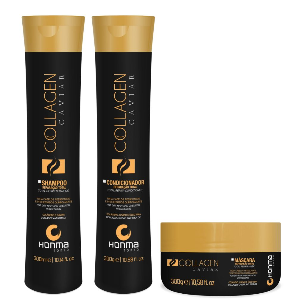 Sampon, Balsam si Masca de par cu colagen - set Collagen Caviar Total Repair